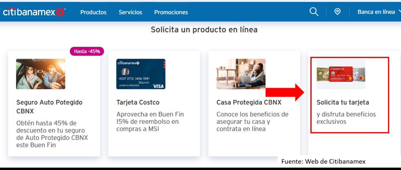 Cómo Solicitar Una Tarjeta De Crédito Banamex Por Internet